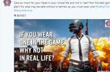 印度孟买警局用《绝地求生》宣传交通平安:记得带平安盔!