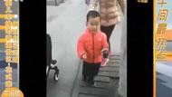 老公用婴儿车推老婆逛景区