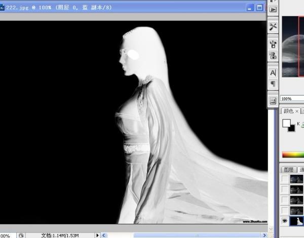 Photoshop根据图片场景抠出美女图片