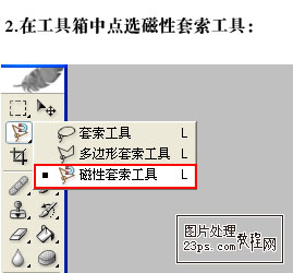 PS磁性套索工具实例详解