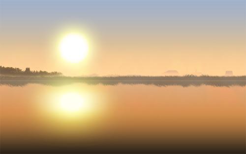 ps设计实例-打造河边晨雾