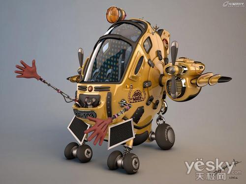 用3dsMax和Vray渲染器做小黄蜂卡通飞行器
